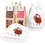 3 Snacks im Baumwollsäckchen Motiv Weihnachtsmann-0
