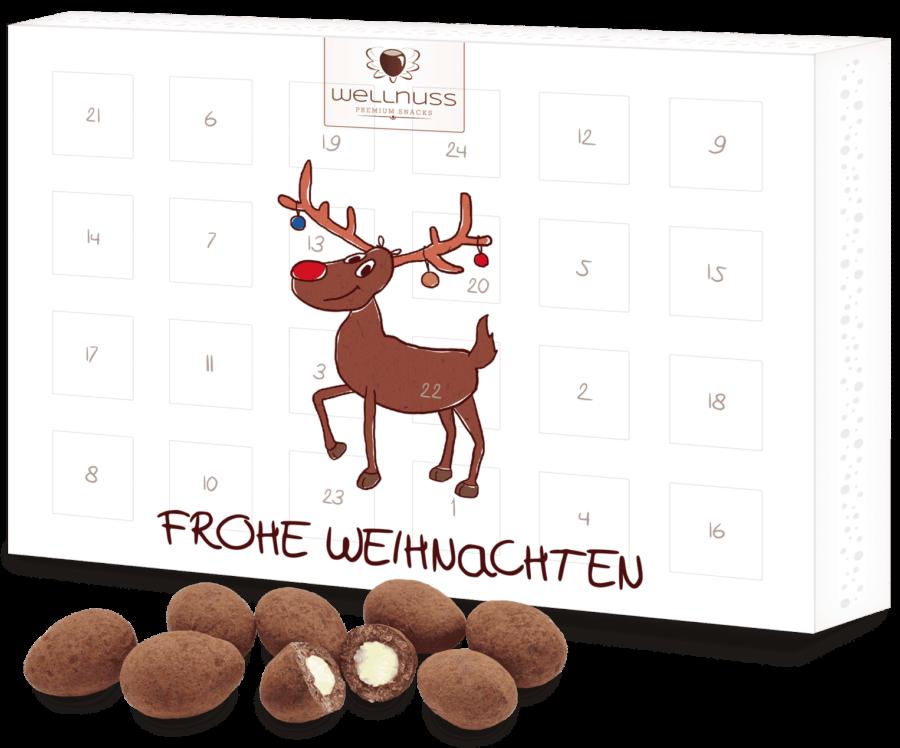 Premium Adventskalender gefüllt mit 24 Trüffelmandeln mit Kakao-0